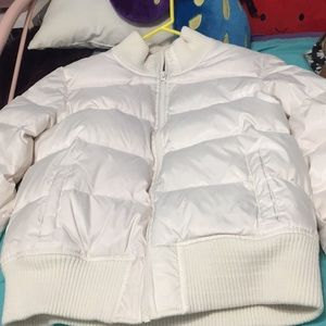 Old Navy Jackets & Coats - Puffy soft white/cream heavy jacket